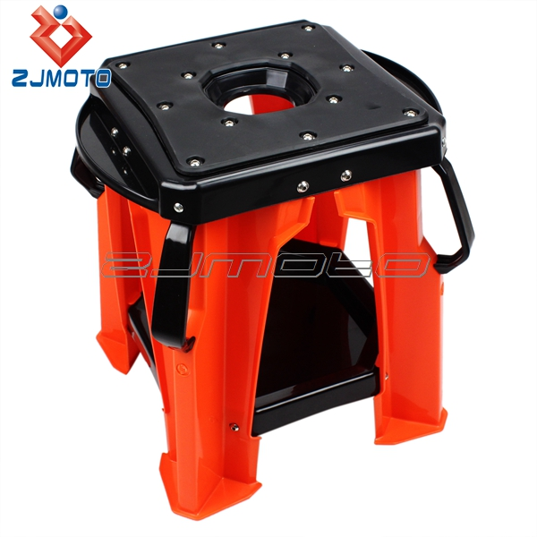 ORANGE MOTORCYCLE MOTORBIKE MOTOCROSS WORK STAND Dirt Bike Moto Stand ABS MOTO SHOP STAND FOR XR CRF YZ WR DR RM KLX 250 450