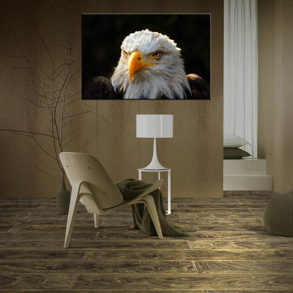 American Eagle Canvas Printed Artwork for Living Room and Office Decoration Animal Giclee Canvas Painting Wholesale 1 Panel