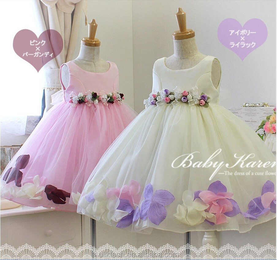 wholesale kids wedding gowns dress with bow kids girls tutu dress 90-130 cm fancy kids wedding gowns