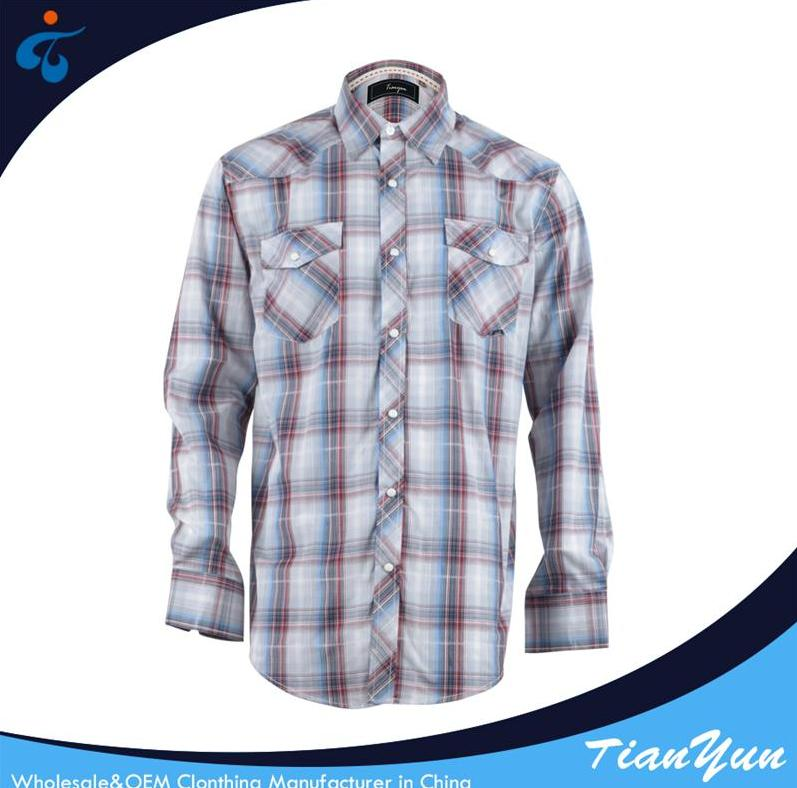Made in China 100% cotton designer check casual latest shirts for men pictures