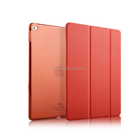 Factory high-grade bright color pu leather cover case shell sets for ipad air smart cover