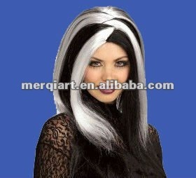 New vamp wig black adult vamp wig halloween wig
