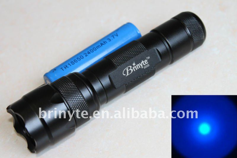 3W High Power Tactical Blue Beam LED Flashlight 18650