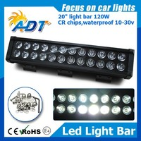 "20"" 120w Led Work Flood Light Bar IP67 Tractor ATV Offroad Fog LED Worklight"