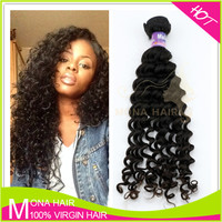 Tangle and shededing free wholesale virgin malaysian soft curl hair