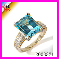 Mystic Sky Blue Topaz Ring 925 Sterling Silver Gemstone Engagement Ring