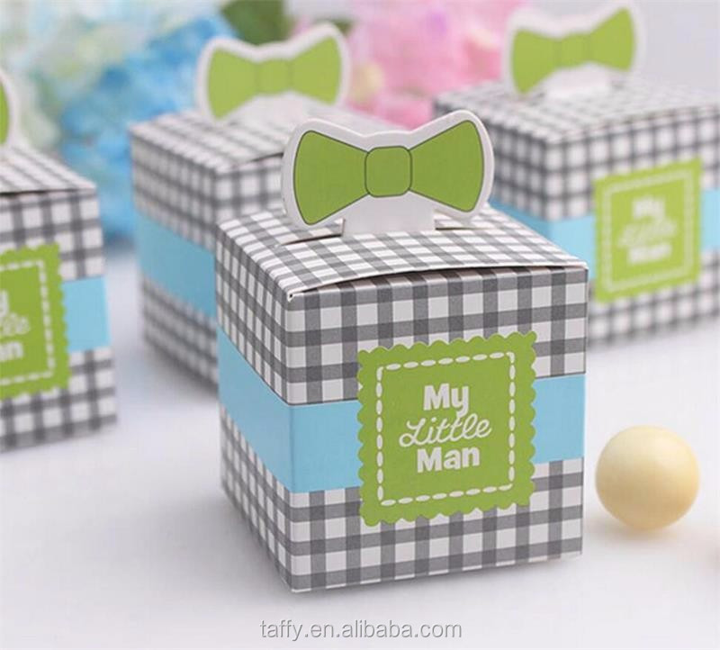 My Little Man moustache Baby Boy Shower birthday Christening Baptism Favours Gift Candy Box