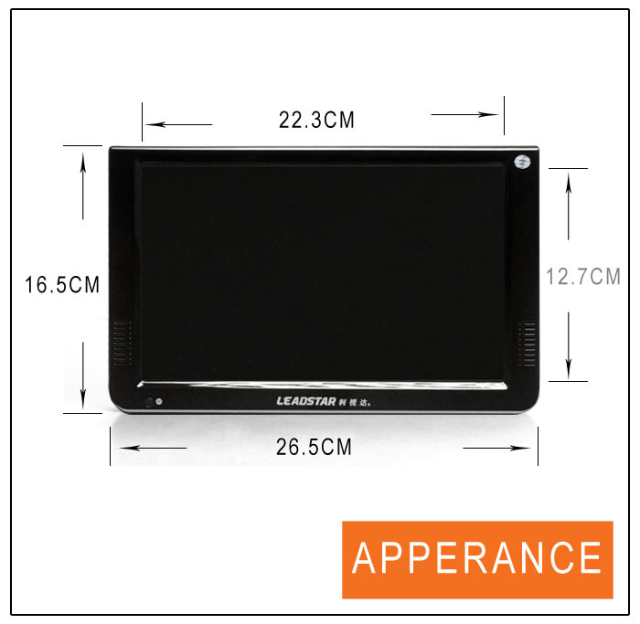 2016 NEW 10 inch flat screen tv with DVB T2 car flat tv screen flat-screen-tv-wholesale LD-1088T2