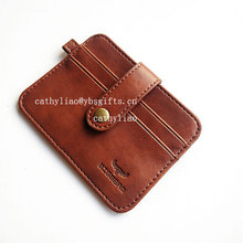 Mens faux Vintage Leather Slim Wallet Credit Card Holder Sleeve Case Pouch