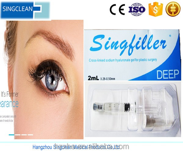 Singfiller Injectable HA Dermal Filler derm 1ml/ha filler/hyaluron acid/lip enhancement
