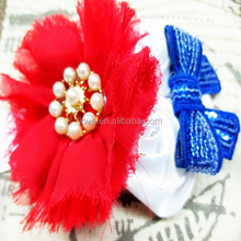 Chic Boutique Baby Sequin Bow Headbands Handmade For Toddler July 4th Hair Accessories