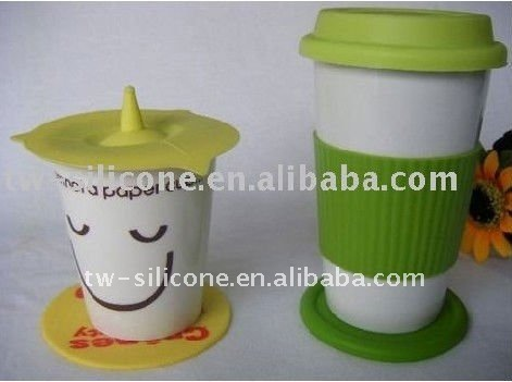 silicone tea cup cover custom cup cover
