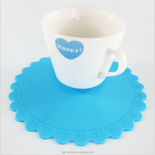 custom silicone cup mat with embossed logo silicone coffee mug cup mat