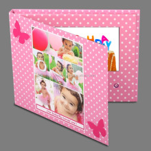 Happy birthday 3D greeting cards with lcd screen,video player card sample