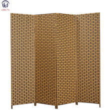 Home decorative folding screen with hand weaving crafts