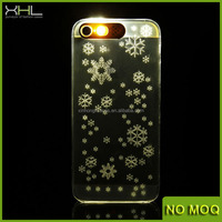 Hot selling led flash shiny pc phone case for iphone 5s, case cover for iphone 4/4s