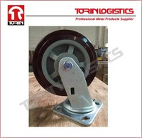 "Heavy duty 6"" PU swivel wheels"