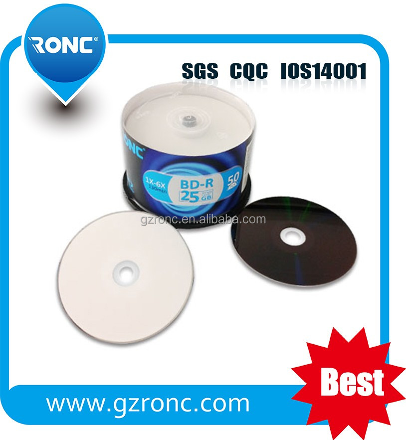 Blue ray disc 25GB OEM logo factory price 50GB BD R