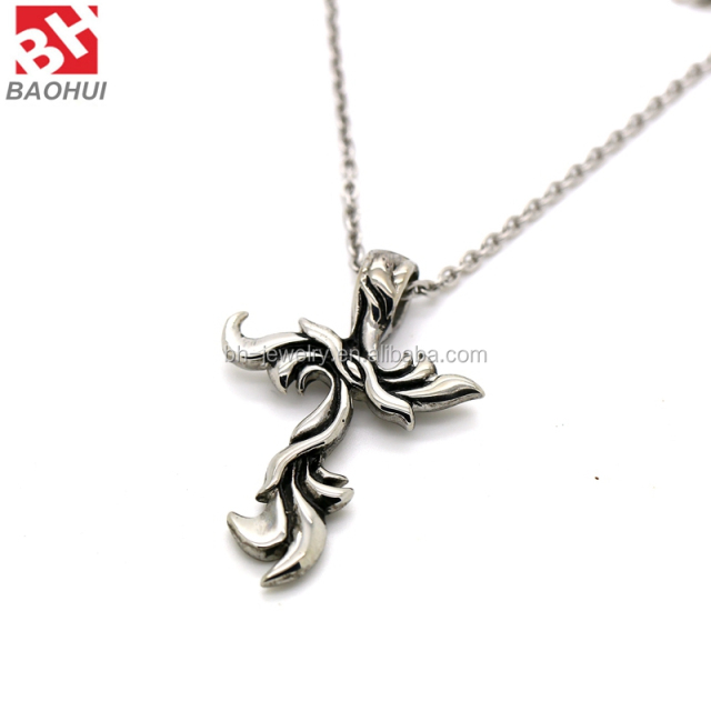 Classic Best Selling Stainless Steel Silver Unique Cross Pendant Wholesale