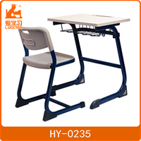 mdf single seat school desk chair