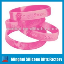 Hope Strength Faith Courage Breast Cancer Awareness Symbol Bracelet