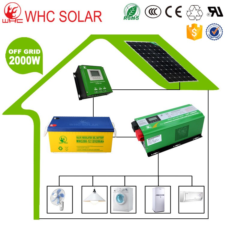 Recommend 2KW and over electric Power supply pv solar power system