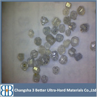 White HPHT Rough Crystal Synthetic Diamond/ CVD Diamond/Rough white diamond reliable supplier