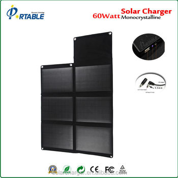 60w professional solar chargers Solar Charger rechargeable batteries solar charger for Smart Phone