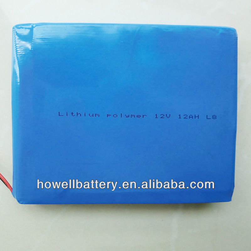 lithium polymer 12V 12Ah L8 battery rechargeable batteries
