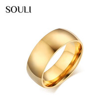 Latest Finger Ring Design Gold Plated Stainless Steel Engagement Wedding Ring