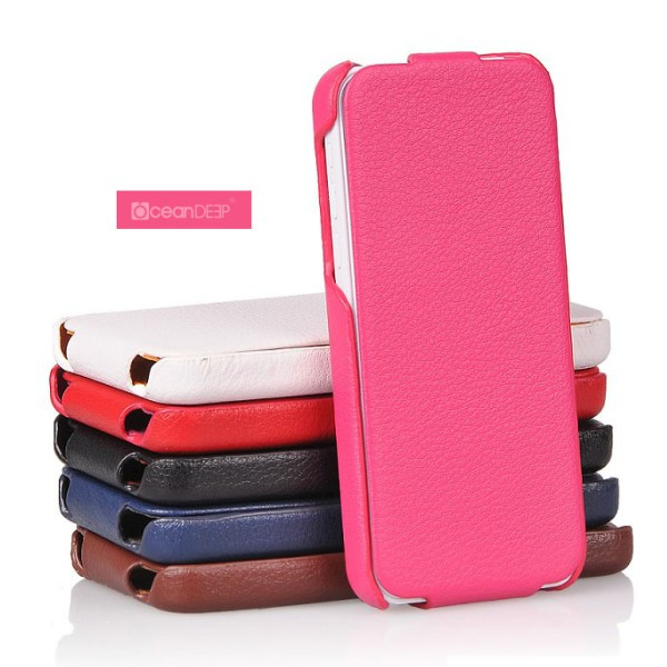 2013 Luxury mobile phone vertical flip leather case for iphone 5c