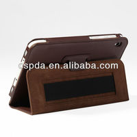 For Acer Iconia W3-810 Tablet back stand leather case with hand strap