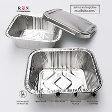 Disposable Aluminum Foil Container Baking Pan wiht Lid for Restaurant