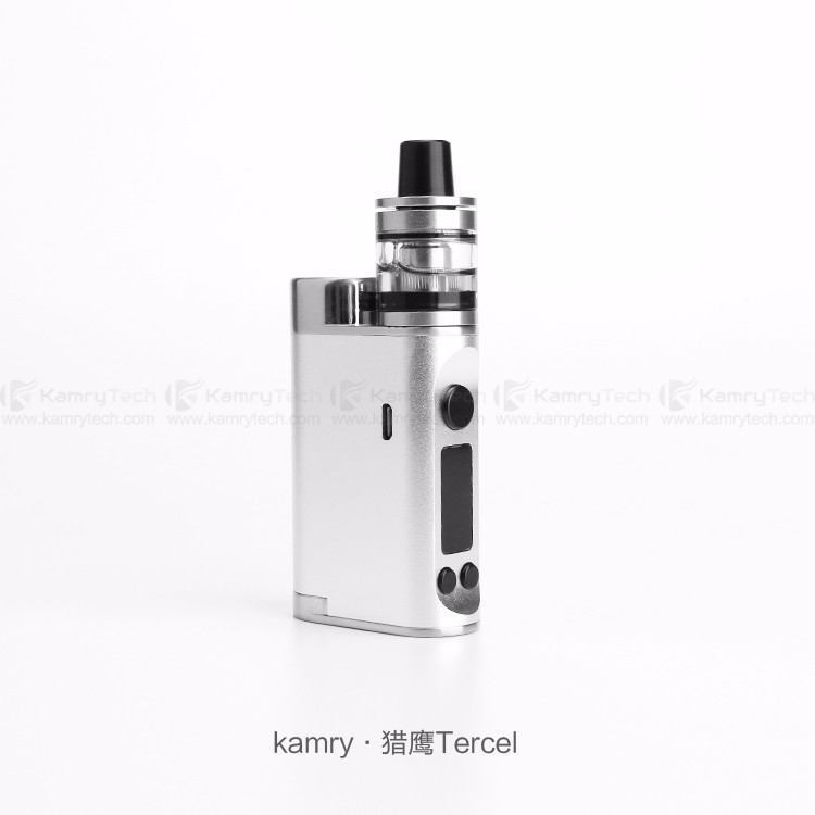 2016 Kamry Tercel 70w TC box mod ecig 70w vape mod with top filling Sub ohm atomizer best selling in UK