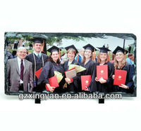 press picture on rock stone/heat press printing photo slate stone / Heat Transfer Phonto on Stone