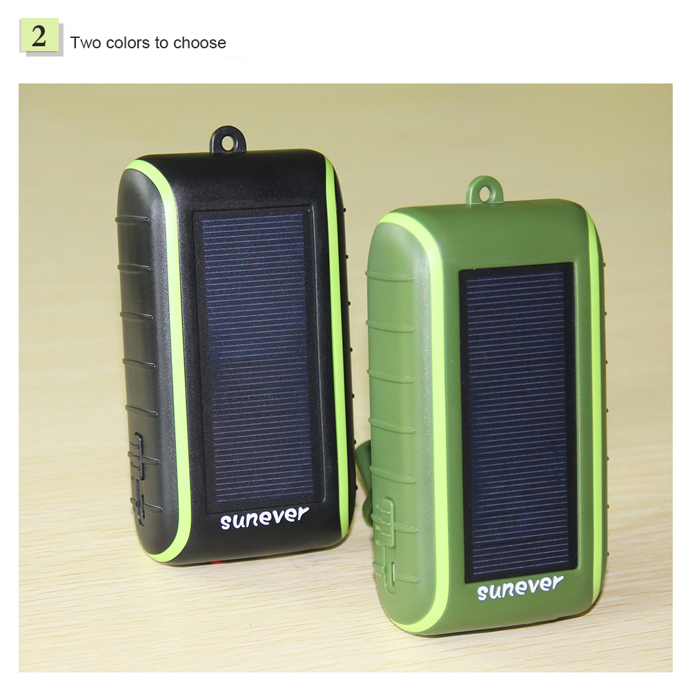 Custom Logo Hand Cranking Power bank Solar Mobile Phone Charger with LED Torch