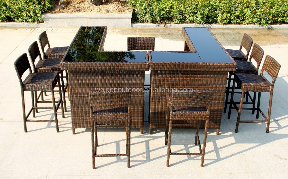 Home Bar Furniture Outdoor Bar Table Seaside Wicker