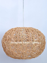 ball shape home decoration rattan hanging light