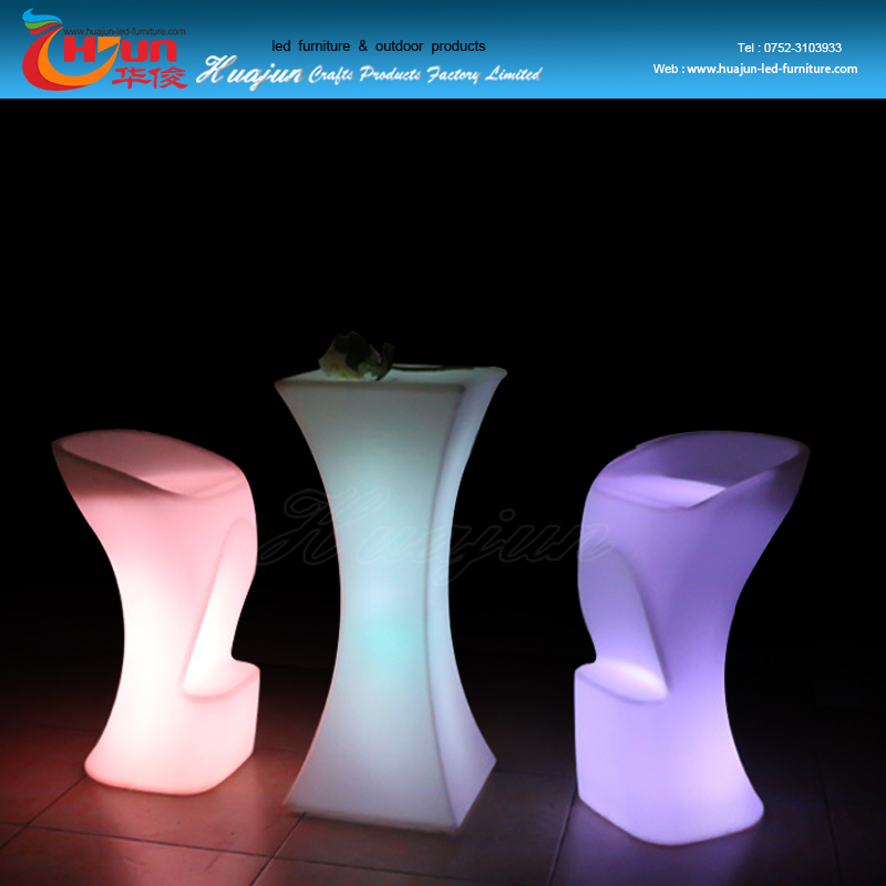 lighting up plastic led bar table furniture with glass top