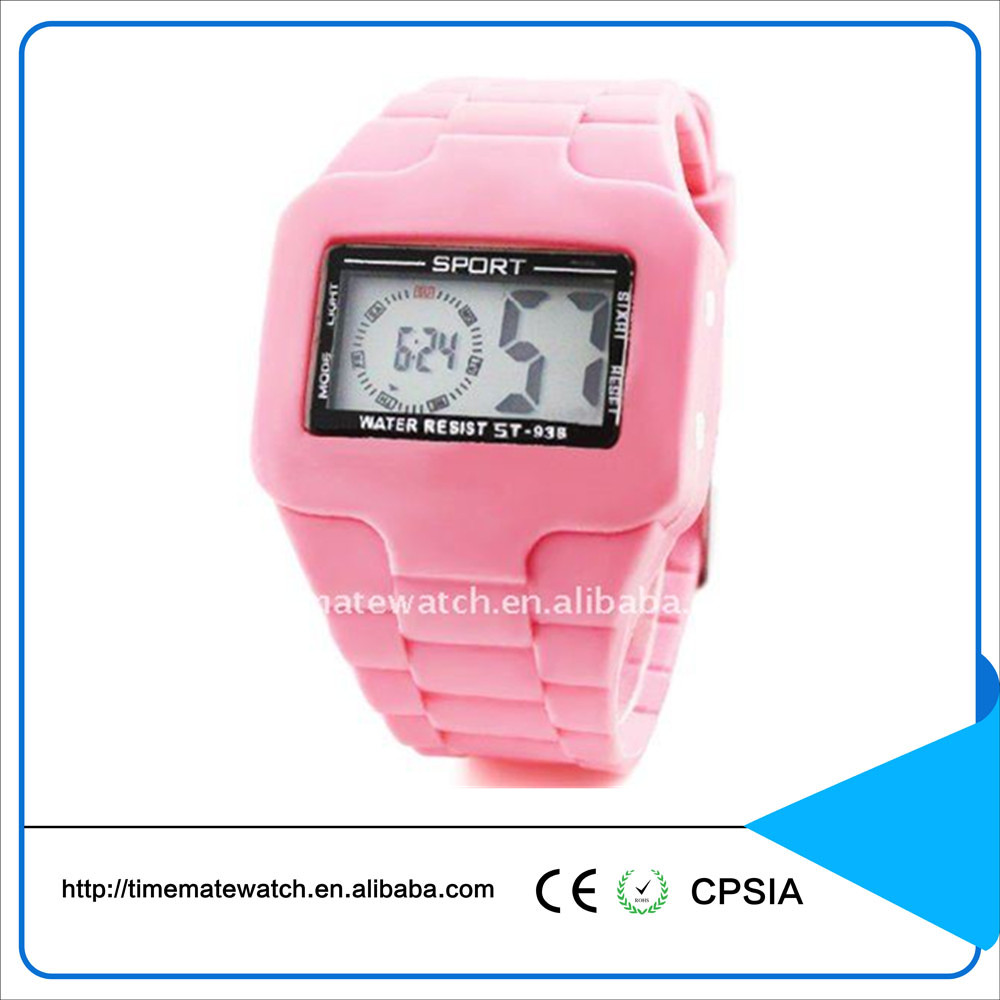 Waterproof sport watch kids digital watches attractive silicon watch