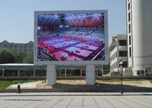Venta caliente outdoor impermeable p16 publicidad led display caninet