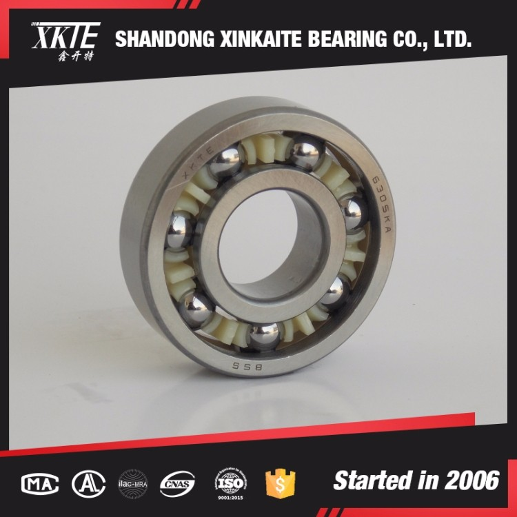 manufacture made nylon retainer 305TN/C4 deep groove ball bearing for mining machine from shandong china