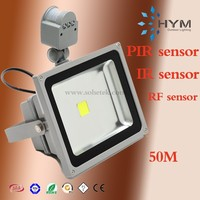 Classic outdoor 20w ip65 motion sensor long range cob led flood light