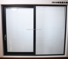 Sliding door with built-in blinds glass good for office and residence