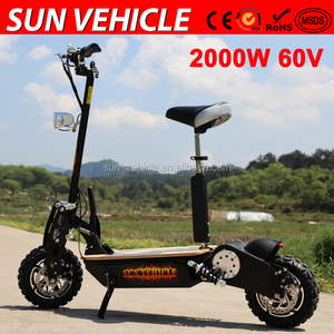 wholesale high quality hot selling china brushless electric scooter 2000W 60V with 12'' cross tires