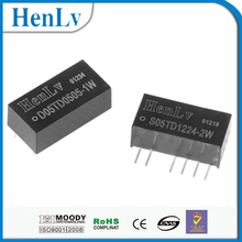 HenLv 1W-2W dc switch power supply 5V input 5V 24V output unregulated power converter with CE RoHS certificate