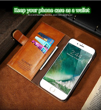 Special card slot PU material leather wallet cell phone case for iphone6/6s,7/7 plus with best quality