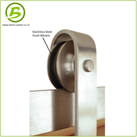 Stainless Steel Interior Sliding Barn Wood Door Hardware