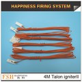 Liuyang Happiness Fireworks Safety ignitor 1000pcs/lot Yellow wire 4M Talon igniters/safety igniter