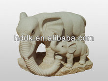 Carved Marble Elephant VAS-A031 J